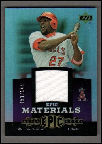 Photo of 2006 Upper Deck Epic Materials Dark Purple #VG2 Vladimir Guerrero Jsy/145