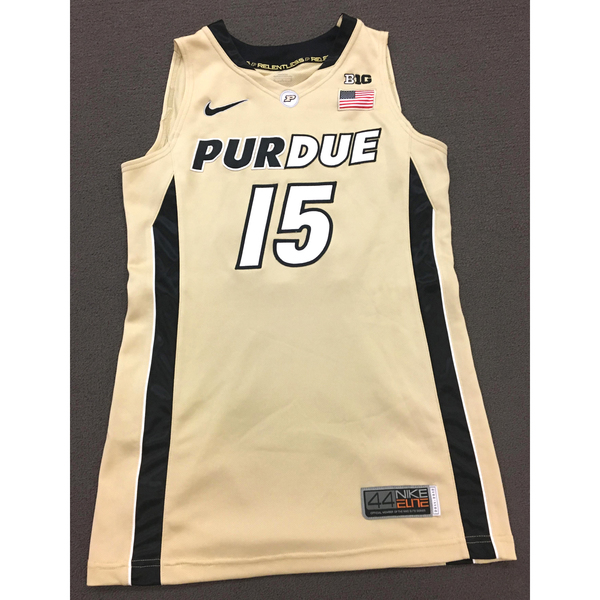 Photo of Moses #15 Purdue Women's Basketball 2011-12 Gold Jersey
