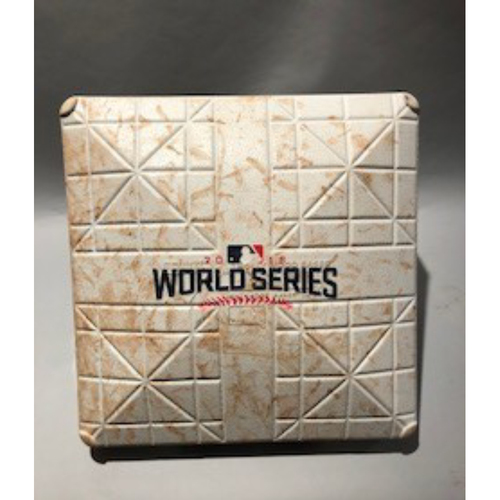 Photo of 2016 World Series Base - 1st Base used in innings 7- 8 of Game 4  - 10/29/16