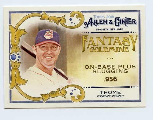 Photo of 2018 Topps Allen and Ginter Fantasy Goldmine #FG40 Jim Thome