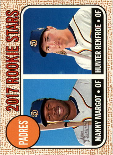 Photo of 2017 Topps Heritage #16 Manny Margot RC/Hunter Renfroe Rookie Card