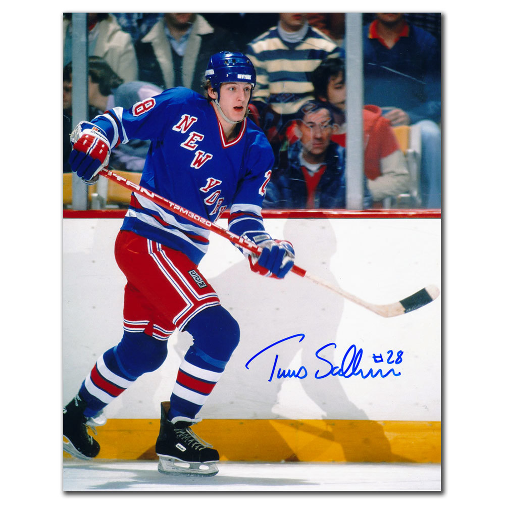 Tomas Sandstrom New York Rangers Autographed 8x10