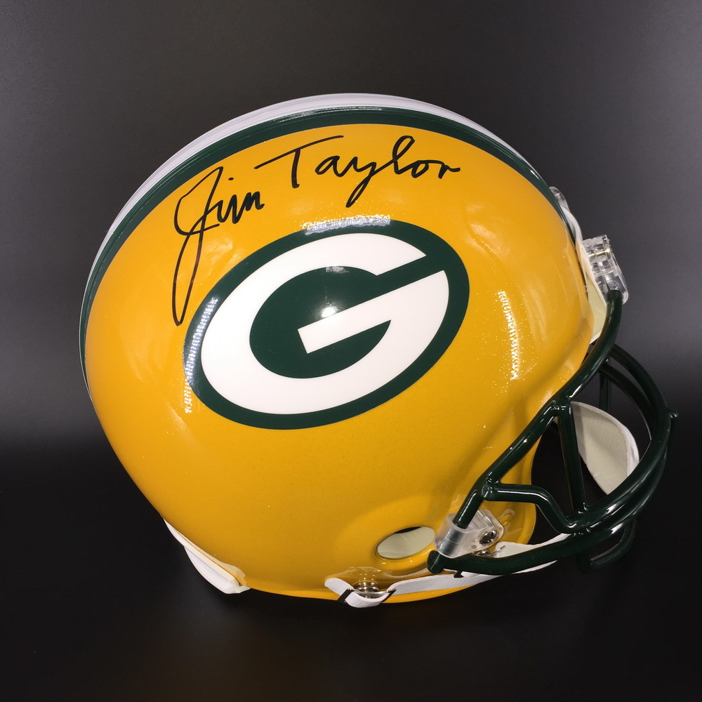 HOF - Packers Jim Taylor Signed Proline Helmet