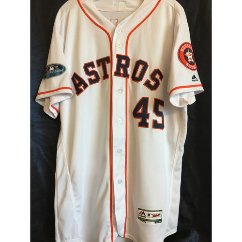 Photo of Gerrit Cole 2018 Game-Used ALDS/ALCS Jersey