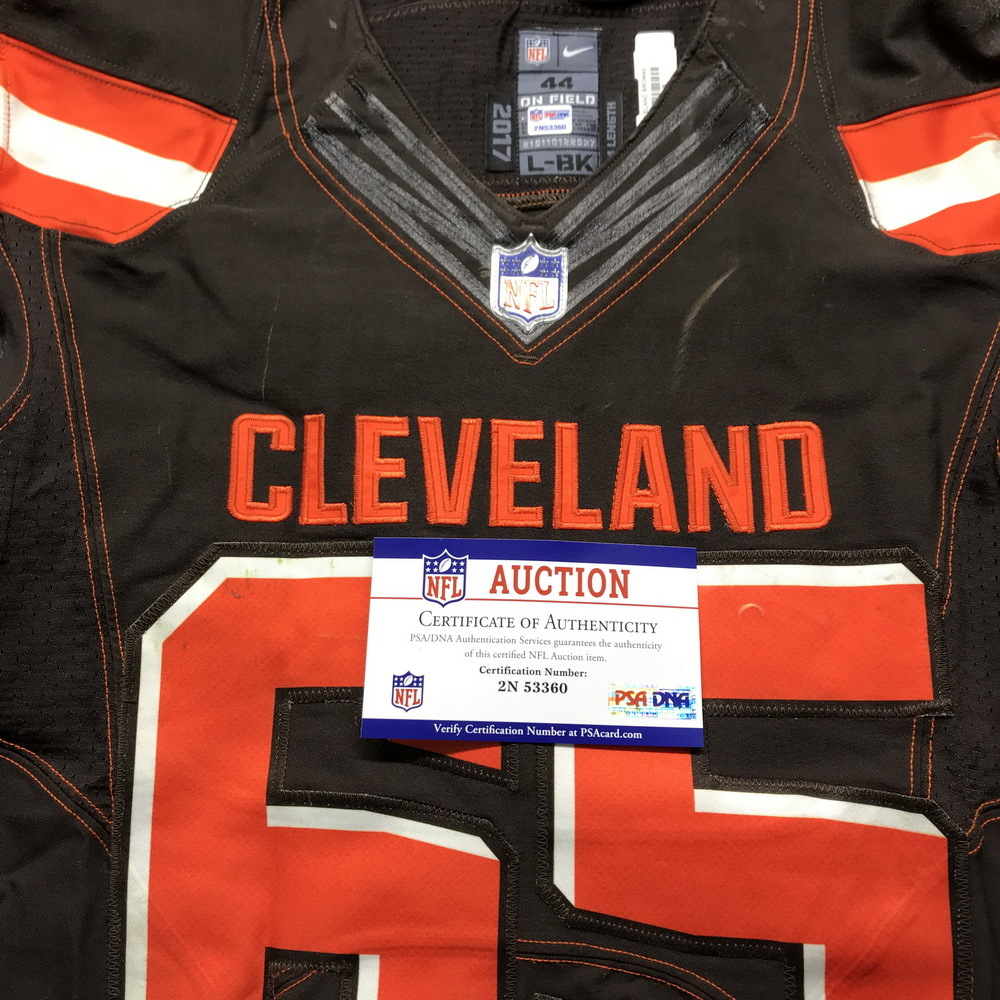 save off dc4bd d027e NFL Auction   STS - Browns Larry Ogunjobi Game Used Jersey ...
