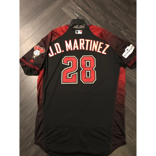 Photo of 2017 Postseason Jersey - 2015, 2018, 2019 All Star #28 JD Martinez