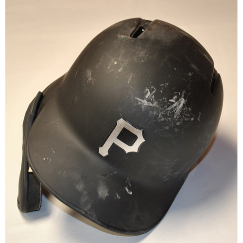"Photo of Adam ""FRAZ"" Frazier Pittsburgh Pirates Game-Used 2019 Players' Weekend Helmet"