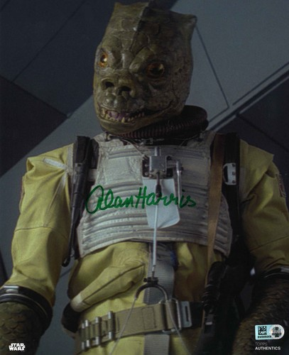 Alan Harris As Bossk 8X10 AUTOGRAPHED IN 'Green' INK PHOTO