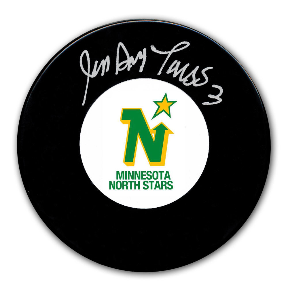 Jean Guy Talbot Minnesota North Stars Autographed Puck