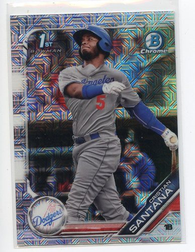 Photo of 2019 Bowman Chrome Mega Box Prospects Refractors #BCP134 Cristian Santana