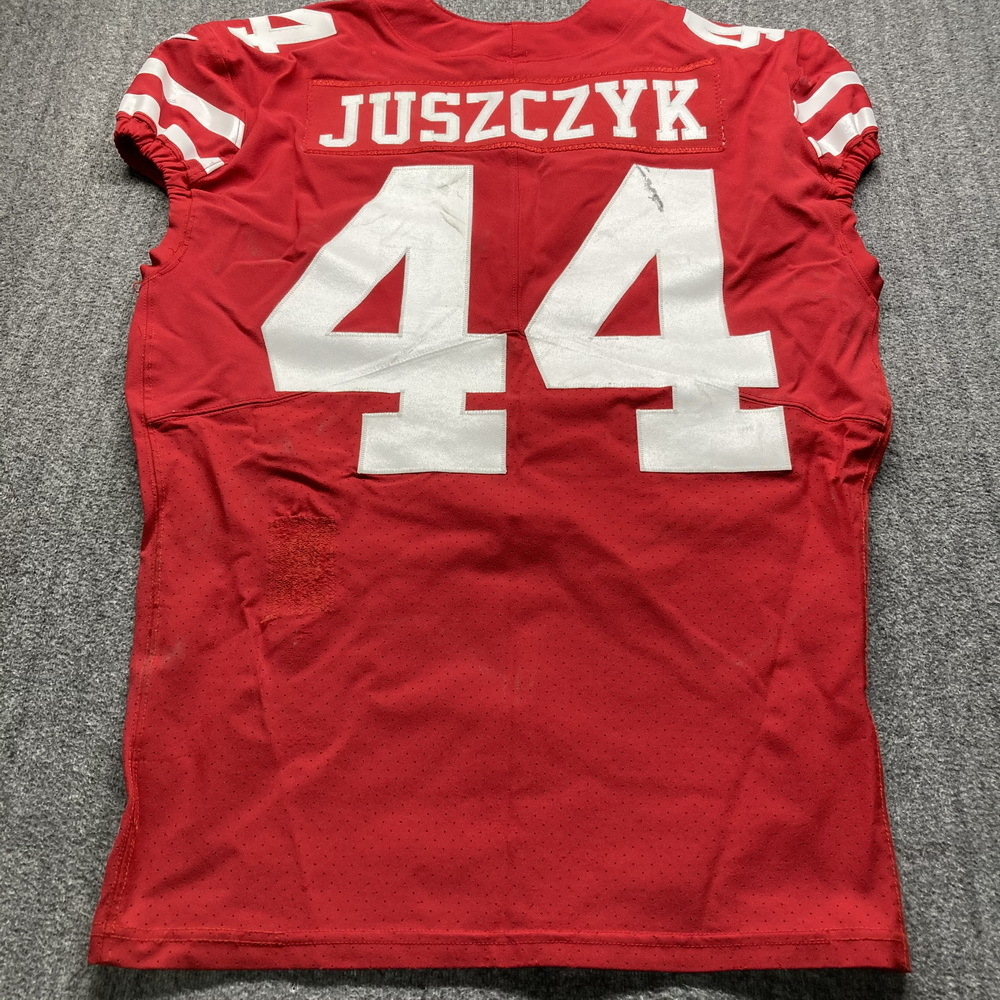 NFL Auction   Crucial Catch - 49ers Kyle Juszczyk Game Used Jersey ...