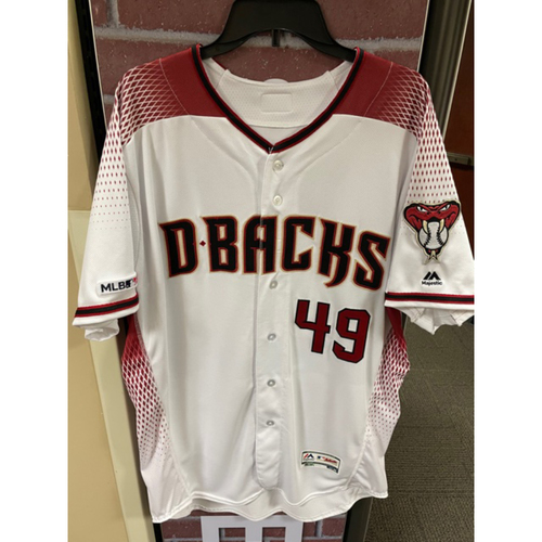 Alex Young 2019 Team-Issued Home Primary Jersey: Young finished the 2019 season 7-5 with a 3.56 ERA and 71 K's in 83.1 IP