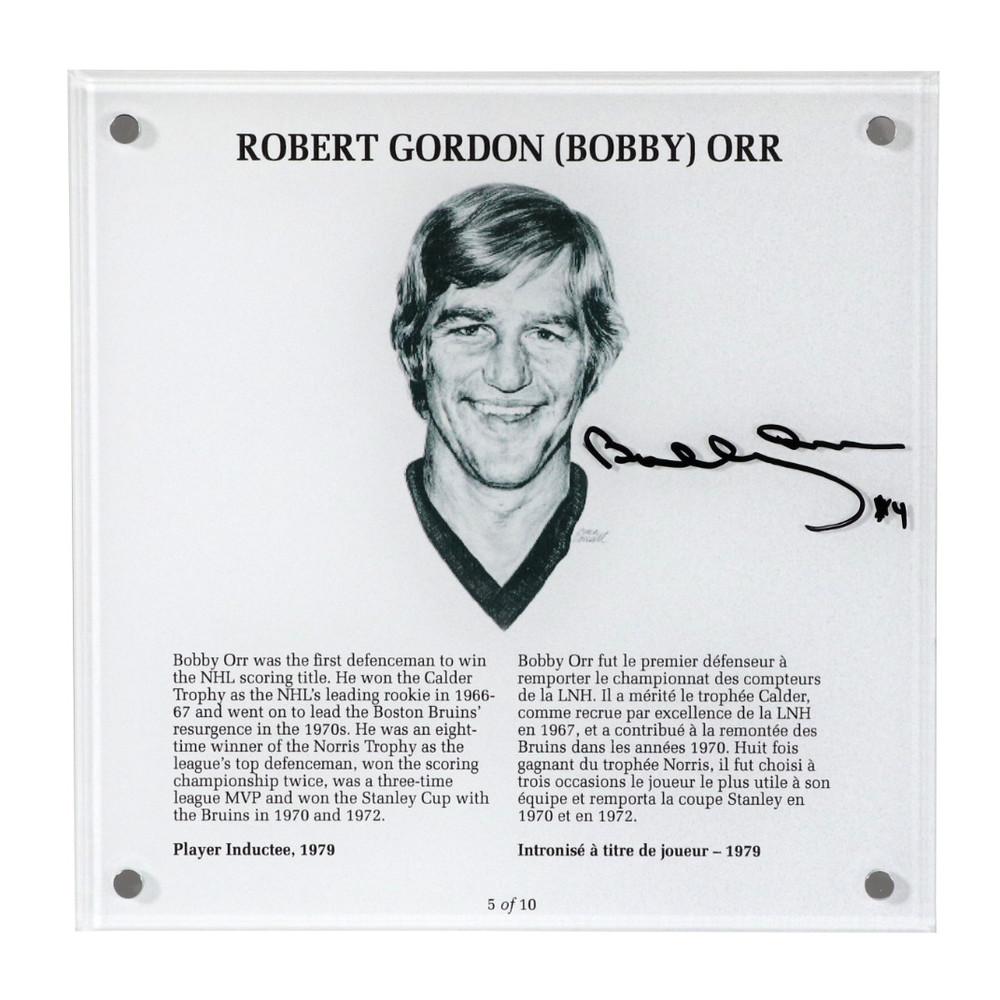 Bobby Orr Autographed Legends Line Honoured Member Plaque - Limited Edition 6/10