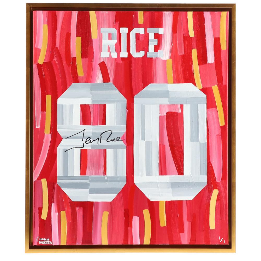 Jerry Rice San Francisco 49ers Autographed 20