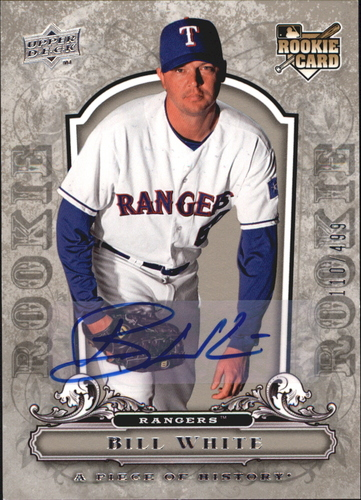Photo of 2008 UD A Piece of History Rookie Autographs #148 Bill White/499