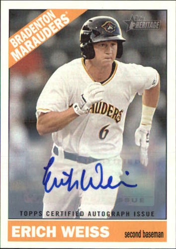 Photo of 2015 Topps Heritage Minors Real One Autographs #ROA67 Erich Weiss