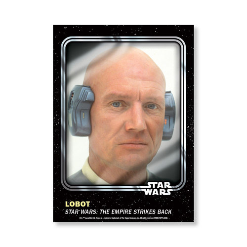Lobot 2016 Star Wars Card Trader Base Poster - # to 99