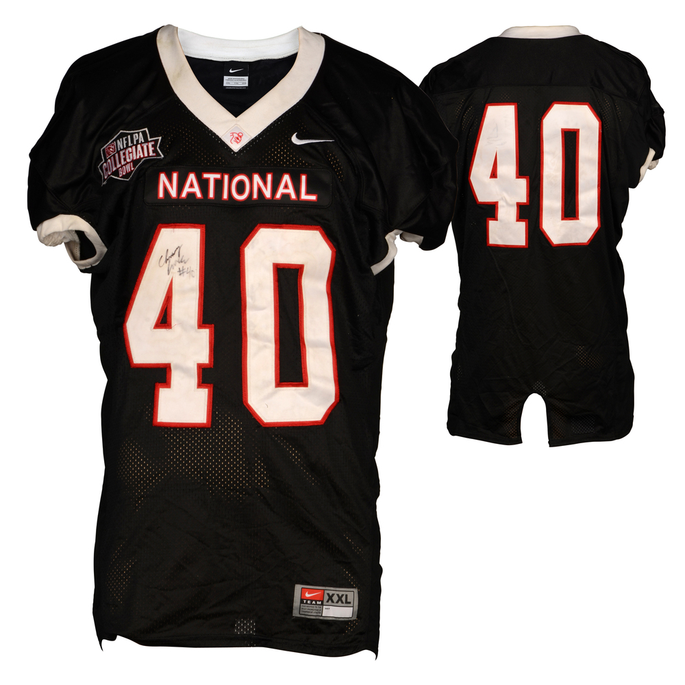Channing Fugate Eastern Kentucky Colonels Autographed Game-Used NFLPA Collegiate Bowl Team National Black Jersey