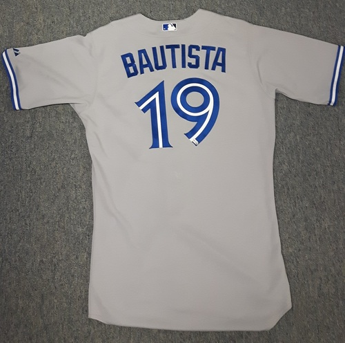Photo of Authenticated Team lssued Jersey (2012) - #19 Jose Bautista. Size 46