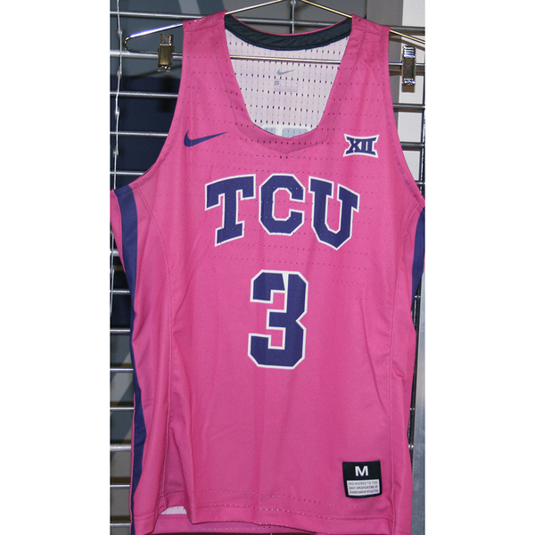 Photo of Women's Basketball Pink Game Worn Nike® Jersey #3 (M)