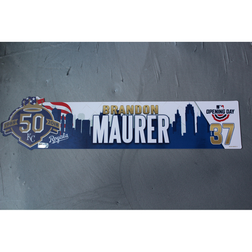 Photo of Opening Day Locker Nameplate: Brandon Maurer