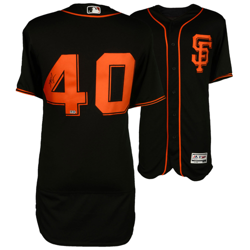 Photo of Madison Bumgarner San Francisco Giants Autographed Majestic Black Authentic Jersey