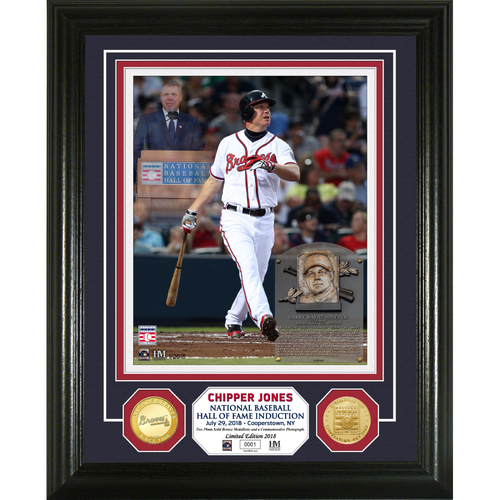 Photo of Chipper Jones Hall of Fame Induction Day Bronze Coin Photo Mint