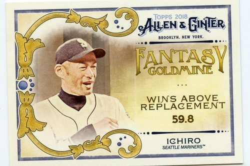 Photo of 2018 Topps Allen and Ginter Fantasy Goldmine #FG49 Ichiro