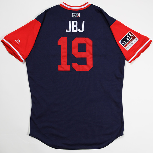 "Photo of Jackie ""JBJ"" Bradley Boston Red Sox Game-Used 2018 Players' Weekend Jersey"