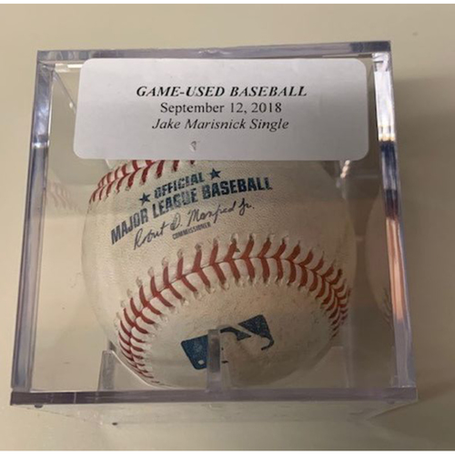 Photo of Game-Used Baseball: Jake Marisnick Single