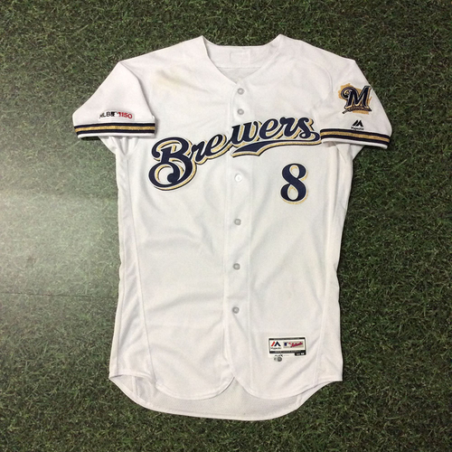 Photo of Ryan Braun 03/28/19 Game-Used Opening Day Jersey
