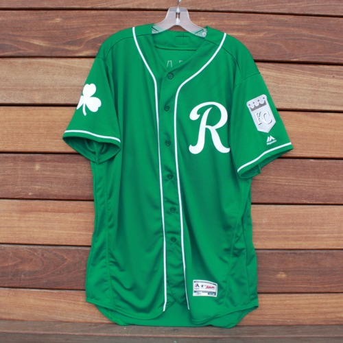 Photo of Team-Issued Saint Patrick's Day Jersey: Elier Hernandez (Size 48)