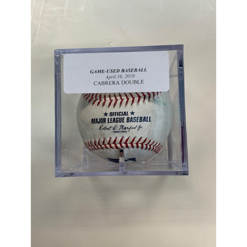 Game-Used Baseball: Miguel Cabrera Double