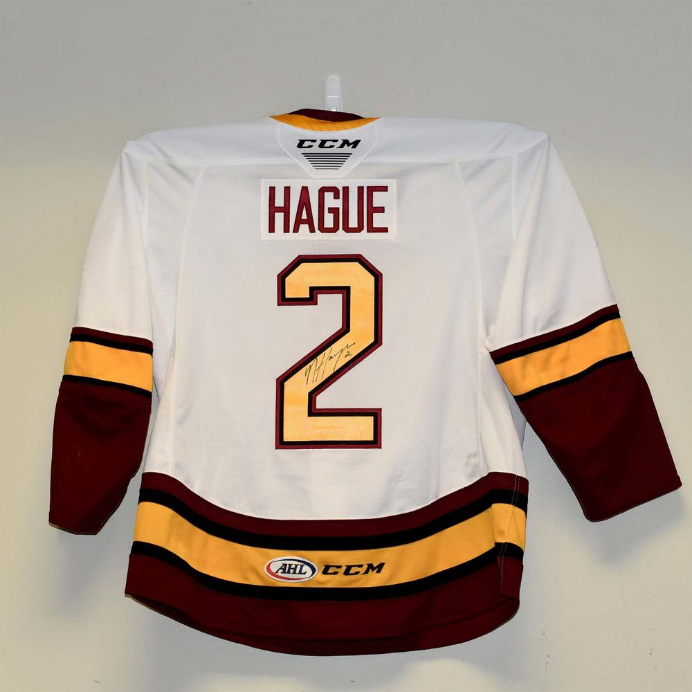 Chicago Wolves 2019 Calder Cup Finals Game 1 Jersey Worn and Signed by #2 Nic Hague