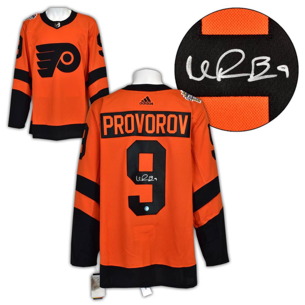 Ivan Provorov Philadelphia Flyers Signed 2019 Stadium Series Adidas Jersey