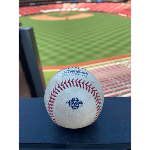 Photo of Cardinals Authentics: Game Used Pitched Baseball by Tyler Webb to Adam Eaton and Anthony Rendon *Eaton Groundout, Rendon Ball*