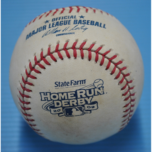 Photo of Game-Used Baseball - 2009 Home Run Derby - Albert Pujols - Round 1, Out