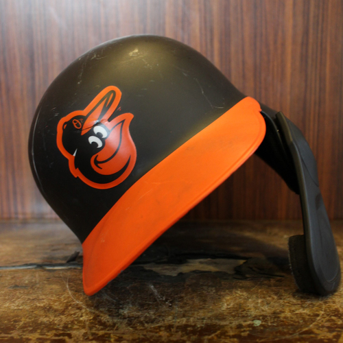 Photo of Trey Mancini - Road Batting Helmet: Team-Issued