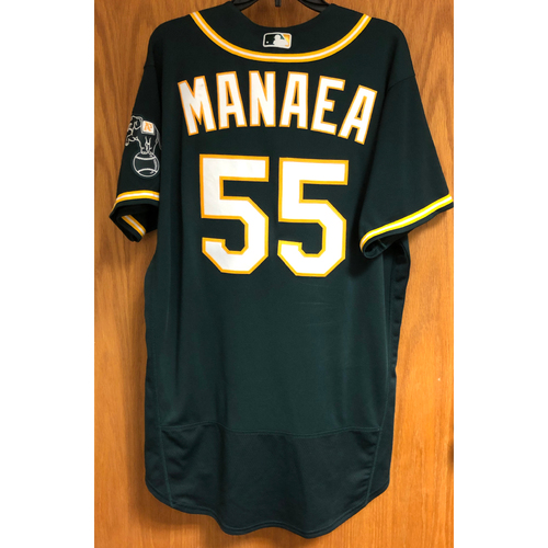 Photo of Game-Used 2020 Jersey - Sean Manaea (Win #3)