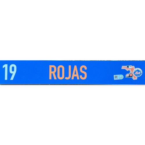 Photo of Luis Rojas #19 - Team Issued Locker Nameplate - 2020 Spring Training