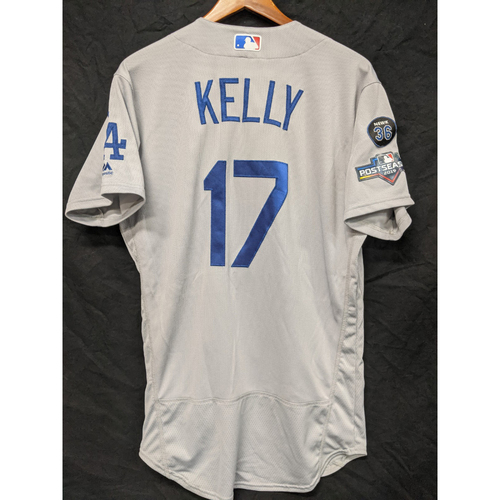 Photo of Joe Kelly Game-Used 2019 Road Postseason Jersey - NLDS Game 3
