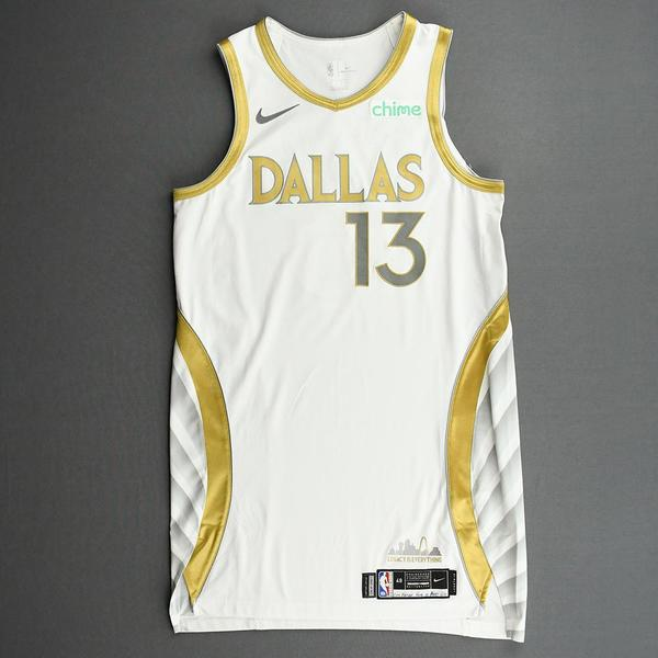 Image of Jalen Brunson - Dallas Mavericks - Game-Worn - City Edition Jersey - 2020-21 NBA Season