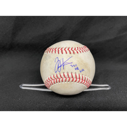 Photo of Joey Votto *Game-Used, Autographed & Inscribed* Baseball from 300th Career HR Game - Jose De Leon to Anthony Rizzo (Ground Out) -- 04/30/2021 - CHC vs. CIN - Top 7