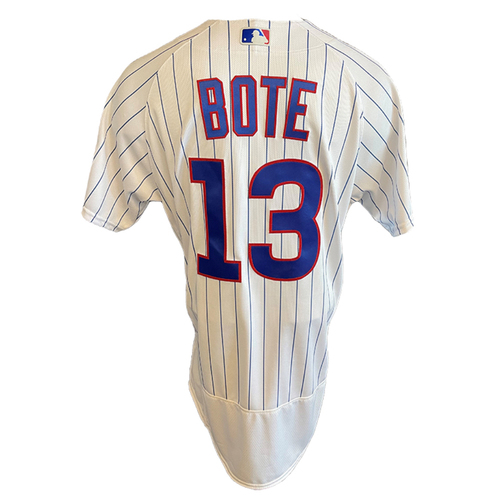 Photo of David Bote Team-Issued Jersey -- Padres vs. Cubs -- 6/2/21 -- Features ALS Patch -- Size 44 +1B