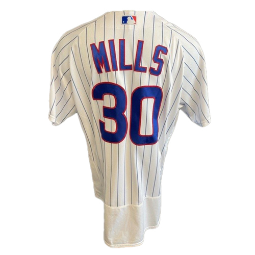 Photo of Alec Mills Game-Used Jersey -- Cardinals vs. Cubs -- 7/10/21 -- Size 48
