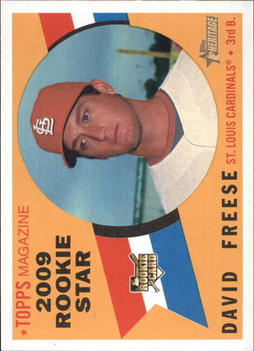 Photo of 2009 Topps Heritage #555 David Freese RC