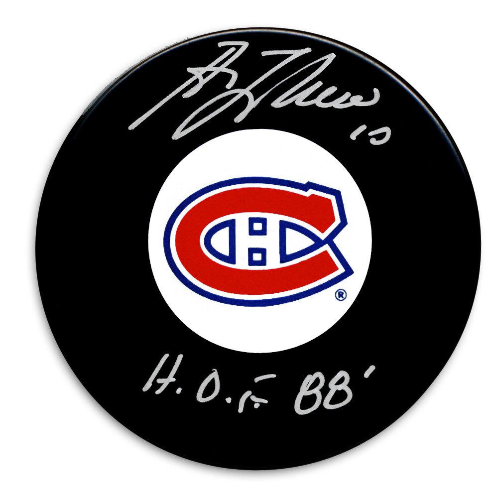 Guy Lafleur Montreal Canadiens HOF Autographed Puck