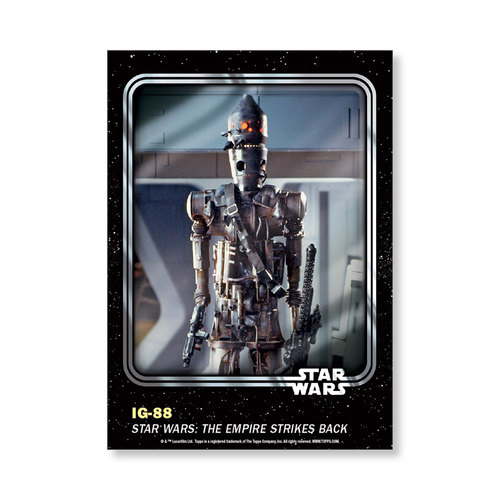 IG-88 2016 Star Wars Card Trader Base Poster - # to 99