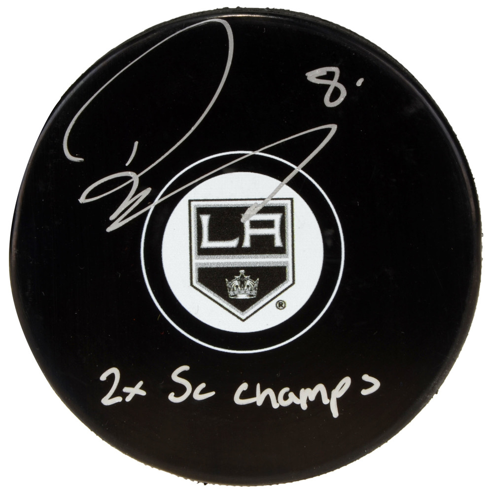 Drew Doughty Los Angeles Kings Autographed Hockey Puck with 2x SC Champs Inscription