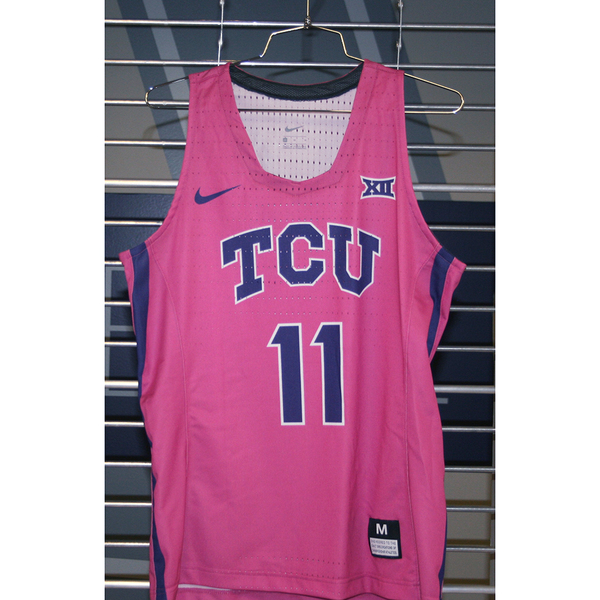 Photo of Women's Basketball Pink Game Worn Nike® Jersey #11 (M)